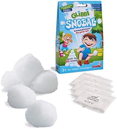 Simba - 105953183002 105953183002 105953183002 - Glibbi Snowball - Jeu d'Extérieur - Boules de Neige | Un Approvisionnement Suffisant  64c166