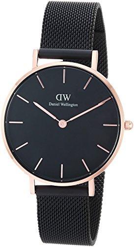 Reloj DANIEL WELLINGTON 32 mm correa negra malla milanesa