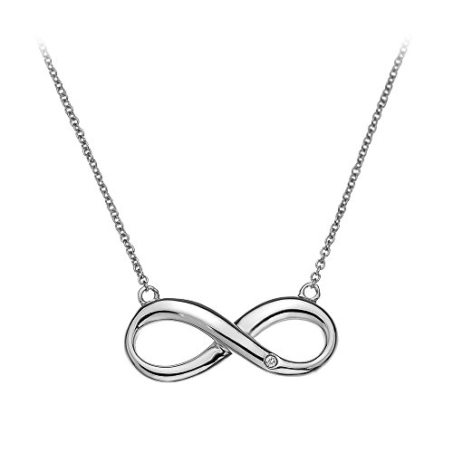 Hot Diamonds - Collier con Ciondolo Infinity in Argento Sterling 925