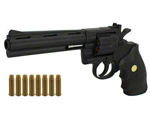 GYD B.W Softair Revolver mit Echter Trommel Pistole Air Soft Kugel in Hülsen Action - Mit Hülse Kugel Silber
