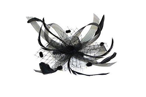 Vanity noir style Burlesque gothique Vintage bibi sur peigne de mariage idéal