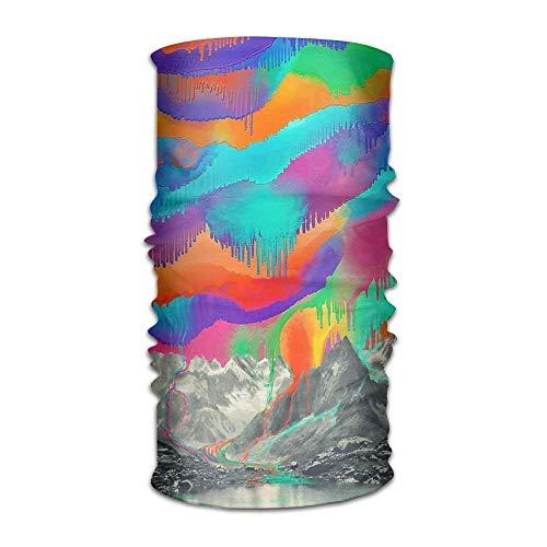 Rainbow Sky Headwear For Men And Women-Yoga Sports Travel Workout Wide Headbands,Neck Gaiter,Bandana,Helmet Liner,Balaclava,Hair Turban,Scarf