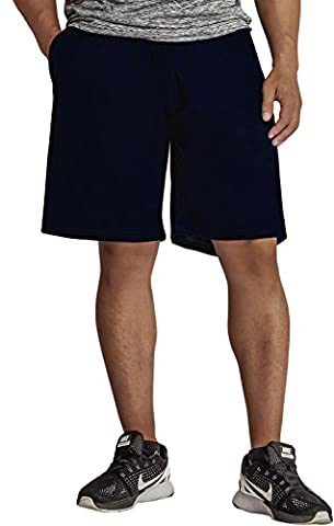 KomPrexx Mens Sports Shorts with Pockets Running Gym Basketball Workout Fitness Training Shorts Summer Sportswear (DarkBlue,L)
