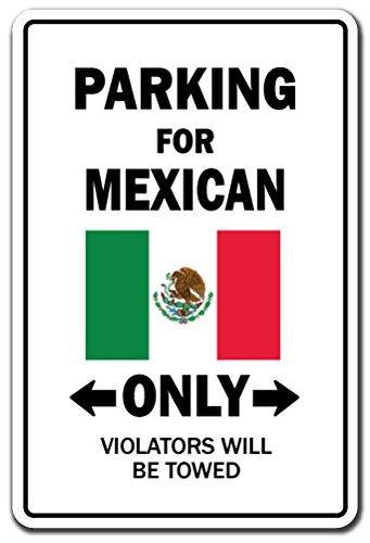 Funny Deko Schilder Parking für Mexikanischen Nur National Pride Schild Flagge Mexiko National Pride Love Dekoration Metall Aluminium Zeichen für Garagen, Wohnzimmer