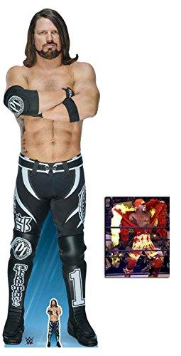 (BundleZ-4-FanZ by Starstills AJ Styles WWE Wrestler Lebensgrosse und klein Pappaufsteller mit 25cm x 20cm foto)