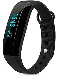 Cubot V2 - Smartwatch Pulsera Inteligente para Móvil Android IOS (Ritmo Cardíaco, Monitor del Sueño, Podómetro Calorías, Recordatorio de la Llamada / SMS, Recordatorio Sedentario, Fotografía Remota)