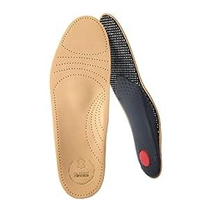 biped Premium Fußbett aus pflanzlich gegerbtem Leder – mit Pelotte – Mittelfußstütze – Fersenpolster und Aktivkohle z1706