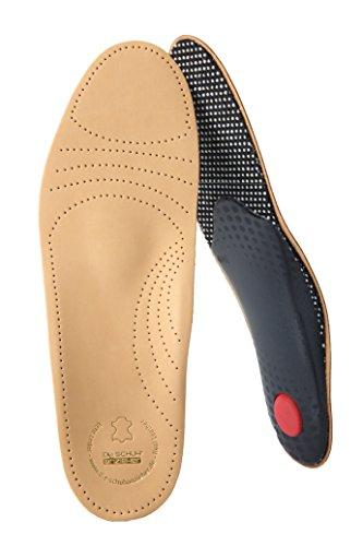 biped Premium Fußbett aus pflanzlich gegerbtem Leder - mit Pelotte - Mittelfußstütze - Fersenpolster und Aktivkohle z1706 (46)