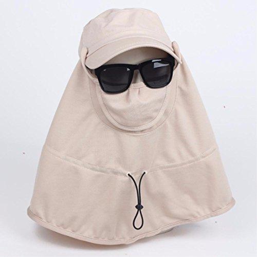 LIUXINDA-MZ Kapuze Summer Outdoor Fahrradhelm/Sonnenschutz Hat Cover Face Wind Helm, rose