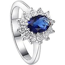 7851eff697234 Zedo Noble en diamant Faux Diamant Bague élégant Cristal réglable Bagues de  mariage Bijoux pour femme