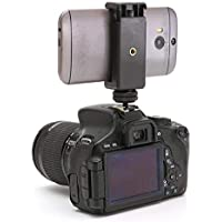 "Yantralay 1/4"" Flash Hot Shoe Screw Adapter Tripod Mount Phone Clip Holder for DSLR Camera"