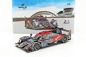 SPARK-Oreca-07Gibson LMP2-Le Mans 2017Coche de ferrocarril de Collection, 18s336, Negro/Rojo/Blanco