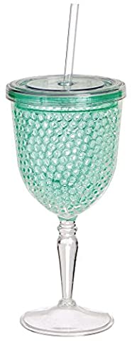 Green Freezable Ball Gel Goblet Glass by Gifted Living