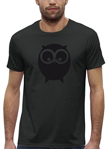 Niedliche Bio-herren-t-shirt (Herbst Premium Herren T-Shirt Aus Bio Baumwolle mit Eule Motiv der Marke Stanley Stella, Größe: XXL,Anthrazite)