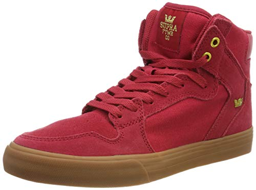 Supra Unisex-Erwachsene Vaider Hohe Sneaker, Rot (Rose/Gold-Lt Gum 644), 42 EU -
