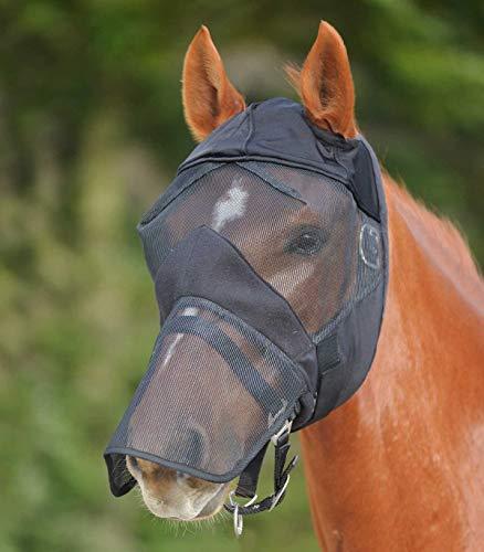 Waldhausen Fliegenmaske ohne Ohren- mit Nasenschutz, schwarz, VB, schwarz, Vollblut