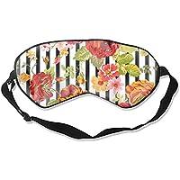 Schlafmaske, Vintage-Blumen-Hintergrund, weich und bequem, Augenbinde für vollständige Verdunkelung und Lichtblockierung... preisvergleich bei billige-tabletten.eu