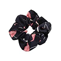 Haodou Lovely Floral Flamingo Elastics Hair Ties Bobbles Ponytail Holders Rubber Bands Stretchy Hair Ropes Hair Bands Hair Accessories for Women Girls Kids Men