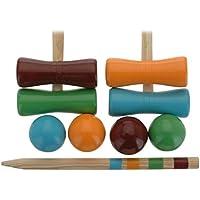 AC-Déco Juego de croquet para niños–Madera–Juegos de exterior
