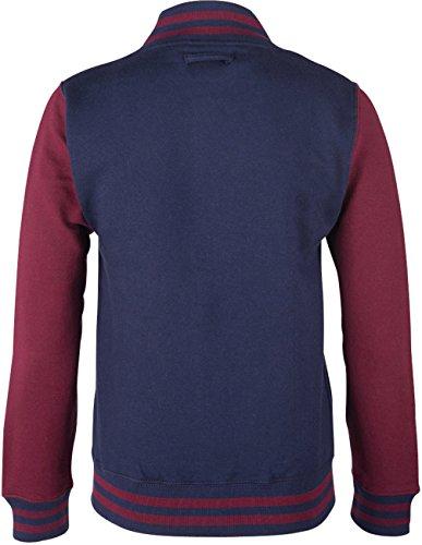 EZYshirt® Unisex Damen Herren & Kinder College Jacke Damen/Blau/Burgundy/Weiss