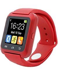 Fashion relojes Bluetooth Smart Android Digital reloj inteligente Wearable dispositivos rojo