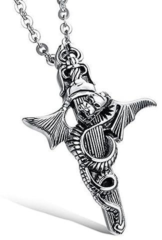 SaySure - dragon cross titanium steel personality men / male pendant