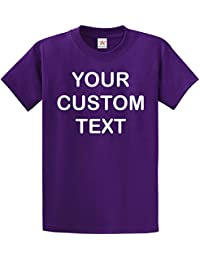 Printed Custom Personalised T SHIRT kids and adults custom 100% cotton CUSTOM text print T Shirt