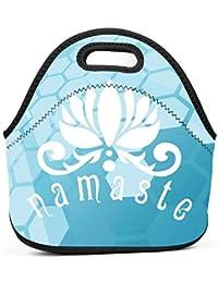 7b95d22747 Dozili Namaste con fiore di loto grandi e spessi neoprene lunch Bags lunch  Tote Bags Cooler