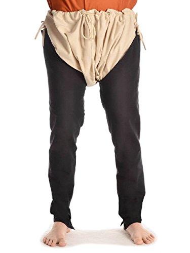 Preisvergleich Produktbild HEMAD Mittelalter Beinlinge-Paar aus fester Baumwolle schwarz L/XL