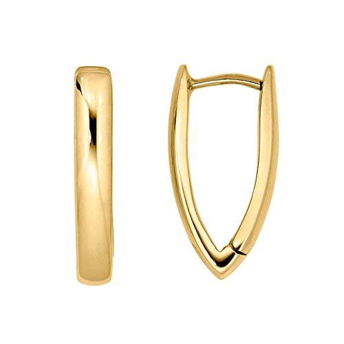 Heideman Ohrringe Damen Trigo aus Edelstahl gold farbend matt Ohrstecker hängend für Frauen Dreieck Ohrschmuck