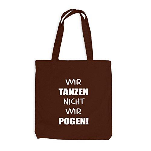 Jutebeutel - Wir tanzen nicht, wir Pogen! - Dance Pogo Chocolate
