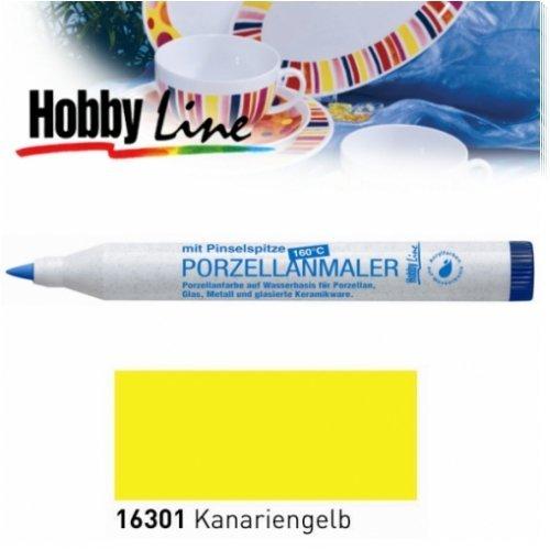 HOBBY LINE Porzellanmaler 160 °C mit Pinselspitze Kanariengelb-HobbyLine