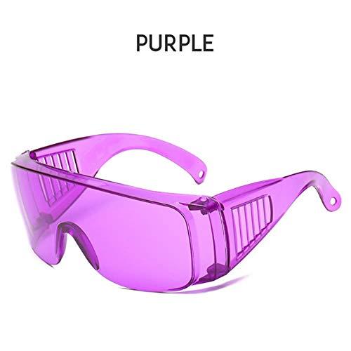 Loving Bird Liebevoller Vogel 2019 Mode Übergroße Sonnenbrille Frauen Transparente Brille Männer Einteiliges Objektiv Große Sonnenbrille Für Frauen Party Brillen UV400, lila