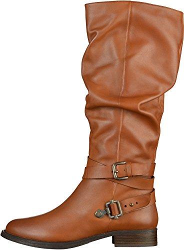 SPM Damen USA High Boot Reitstiefel Braun(Hellbraun)