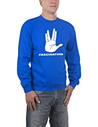 Touchlines Herren Pullover Spock Fascinating