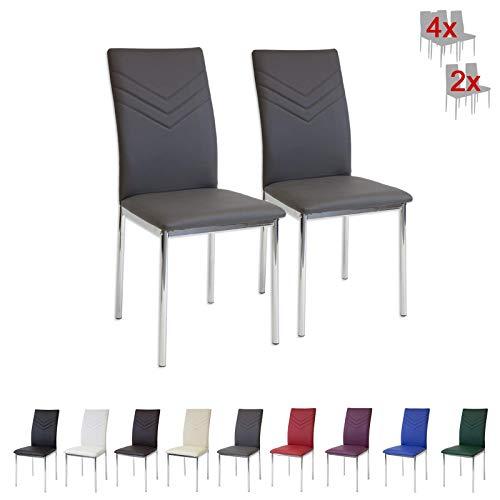 Albatros Verona 2936 Set de 4 sillas de Comedor, Gris