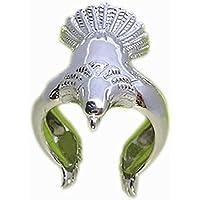 Topdo 1 pieza de alas de expansión de águila retro, tamaño de anillo ajustable abierto
