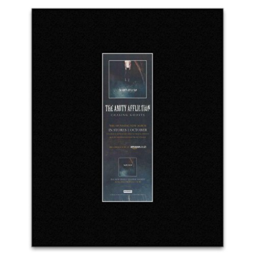 THE AMITY AFFLICTION - 2012 Chasing Ghosts Matted Mini Poster - 28x10cm - Amity Ties Severed The Affliction