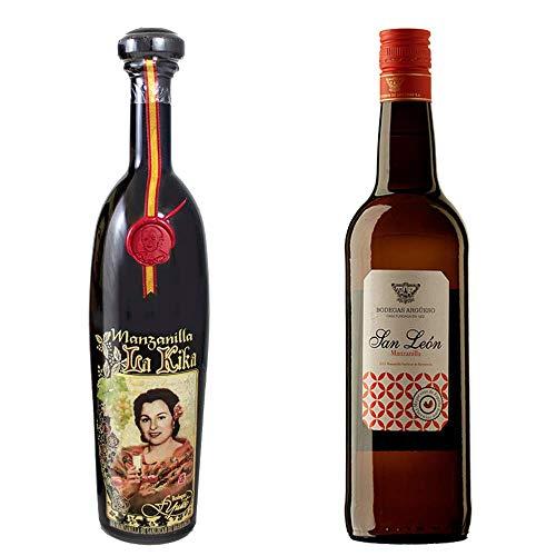 Manzanilla La Kika Y Manzanilla San León - D. O. Manzanilla De Sanlúcar De Barrameda - 2 Botellas De 750 Ml