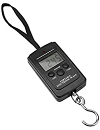 Akozon Báscula Digital de Precisión Balanza Electrónico 40KG Portátil Digital Handy Scale Electronic Hanging Equipaje Escala