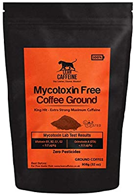 UKs Cleanest & Strongest Strong Coffee Ground 908g | High Caffeine Coffee: 48% > Death Wish Coffee | Clean Pre Workout Drink | Bulletproof Coffee Ground Pesticide & Mycotoxin Free Coffee Lean Caffeine by Lean Caffeine