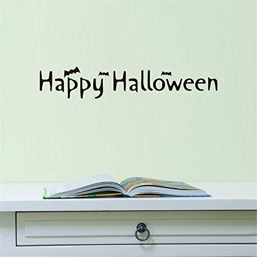 TIVOPA Halloween Brief Tapeten Happy Halloween Hintergrund Wandaufkleber Fenster Dekoration Abziehbild Dekor