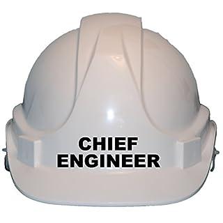 Chief Engineer Kinder, Kinder echtem Hard Hat Sicherheit Helm mit Kinnriemen eine Größe verstellbar geeignet für 4–12Jahre Weiß entspricht EN397Sicherheit Standard, weiß
