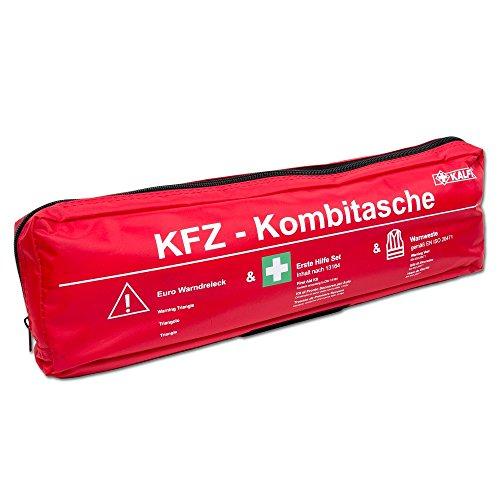 Preisvergleich Produktbild KALFF 7440 Kombi Tasche Trio, DIN 13164 mit Warndreieck und Warnweste