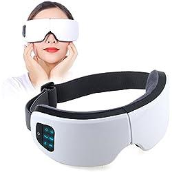 Masque des Yeux Oculaire Electrique Appareil Sommeil avec Chauffage, Pression de l'Air, Vibration, musique Bluetooth pour réduire les cernes et améliorer le sommeil, soulagement du stress oculaire