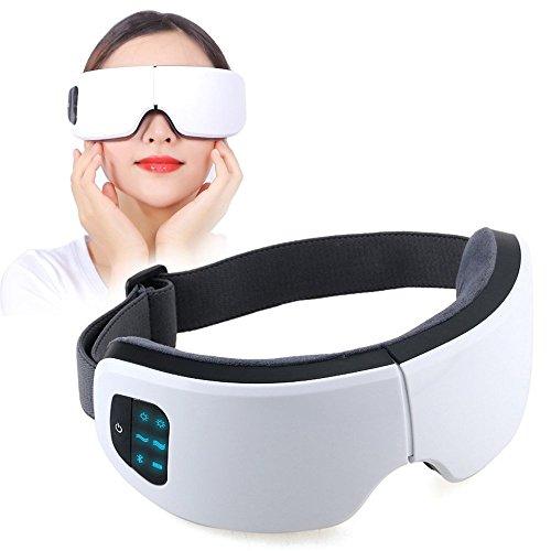Masajeador de Ojos, Masajeador Electrónico Plegable Recargable con Presión de Aire, Compresión del Calor, Vibración y Bluetooth Música para Ojo Seco Relajarse Visión Ojo Oscuro Círculos Estrés Alivio