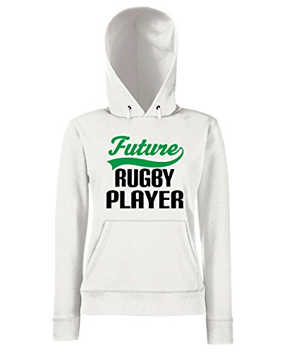 T-Shirtshock - Sweats a capuche Femme TRUG0014 future rugby player kids logo Blanc