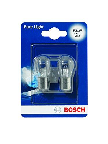 Preisvergleich Produktbild Bosch 1987301017 Autolampe P21W PURE LIGHT - Stopp- / Blinklicht- / Schluss- / Kennzeichenlampe