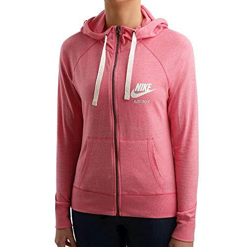 175726cf61464 Nike Sweat-Shirt à Capuche pour Femme Gym Vintage Full Zip-883729 L Rosa
