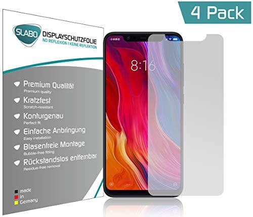 Slabo 4 x Bildschirmschutzfolie für Xiaomi Mi 8 Bildschirmfolie Schutzfolie Folie Zubehör No Reflexion MATT - entspiegelnd